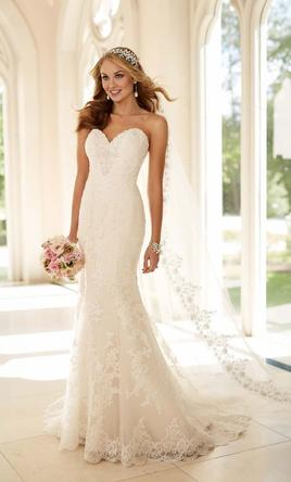 Stella York Fit-and-Flare Strapless Wedding Dress Style 6220, $500 ...