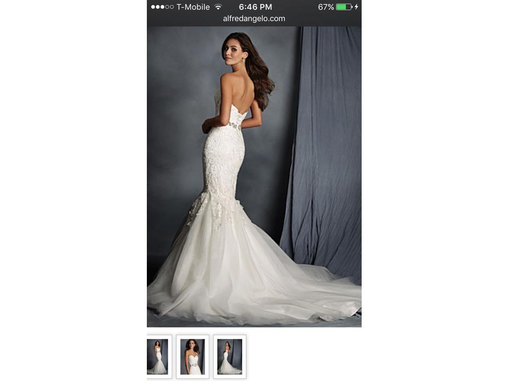 Wedding Dresses For USD 800 : Alfred angelo wedding dress currently for sale at off retail