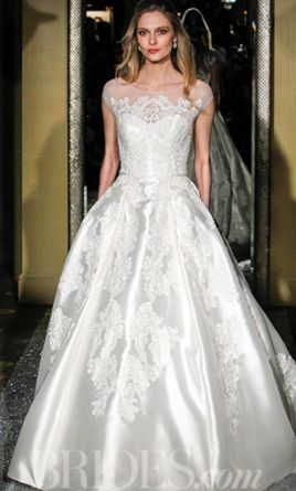 Oleg Cassini Satin & Lace Ball Gown 8