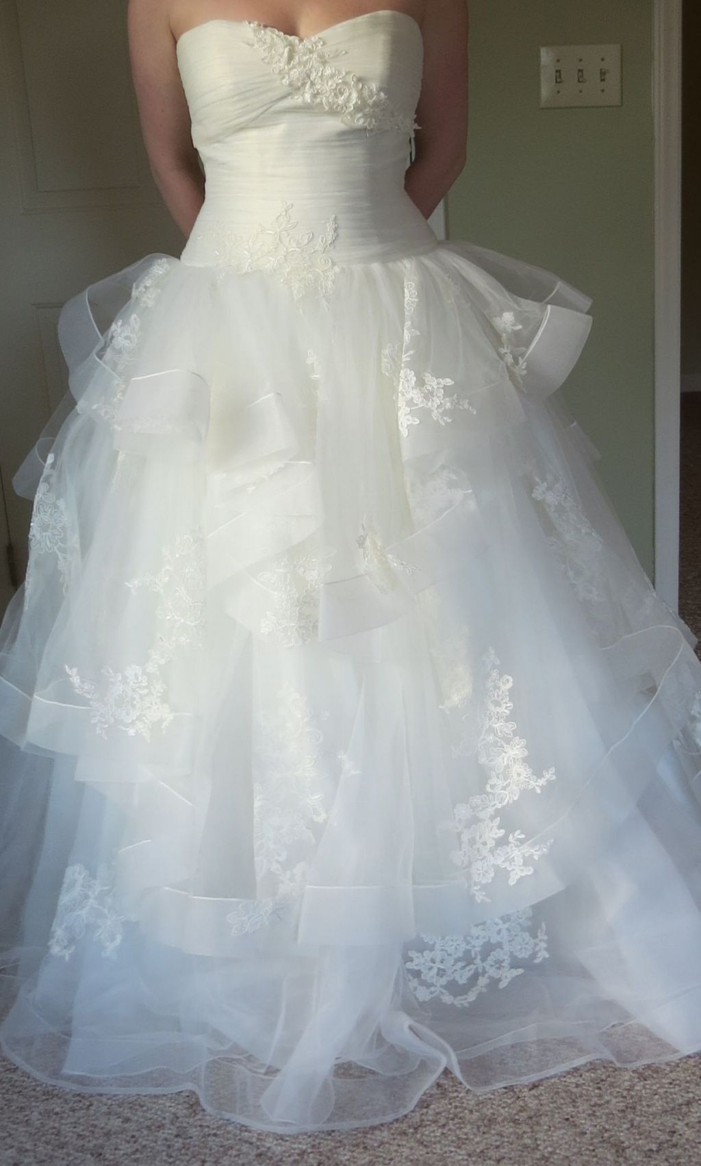 Vera Wang White VW351197, $1,000 Size: 10 | New (Un-Altered) Wedding ...