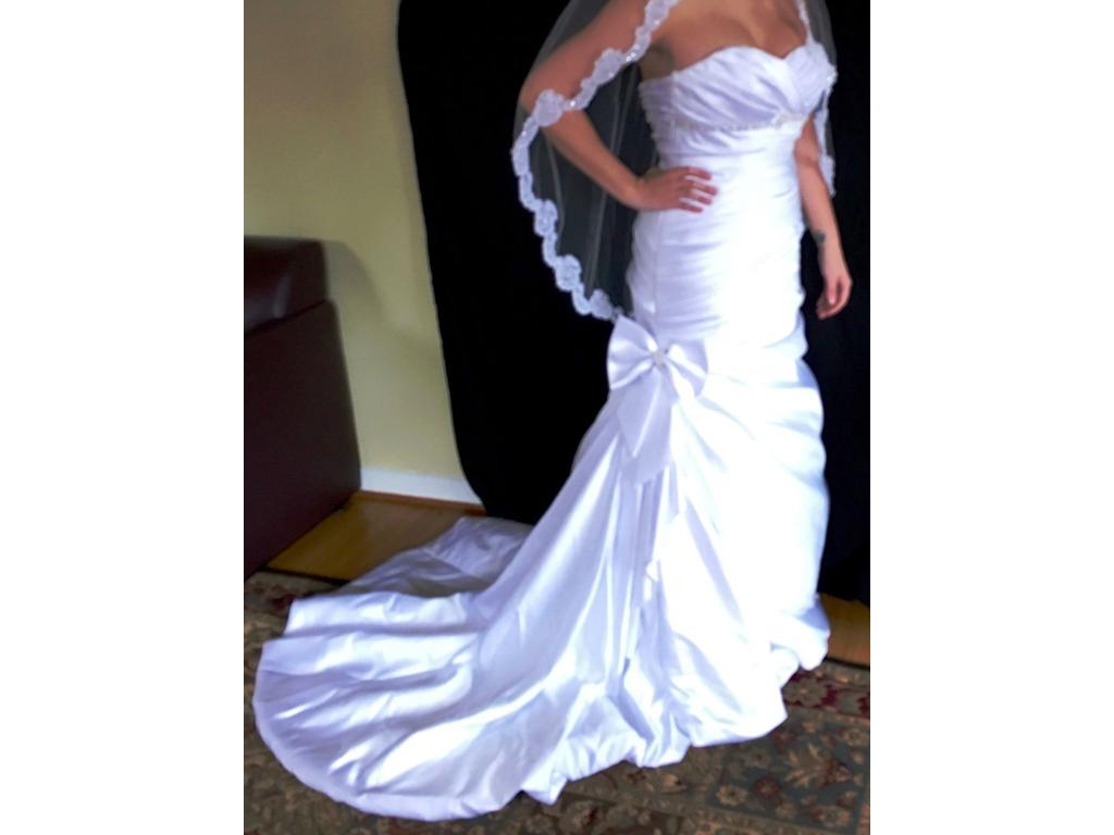 David 39 s bridal mermaid 500 size 12 used wedding dresses for Mermaid wedding dresses under 500