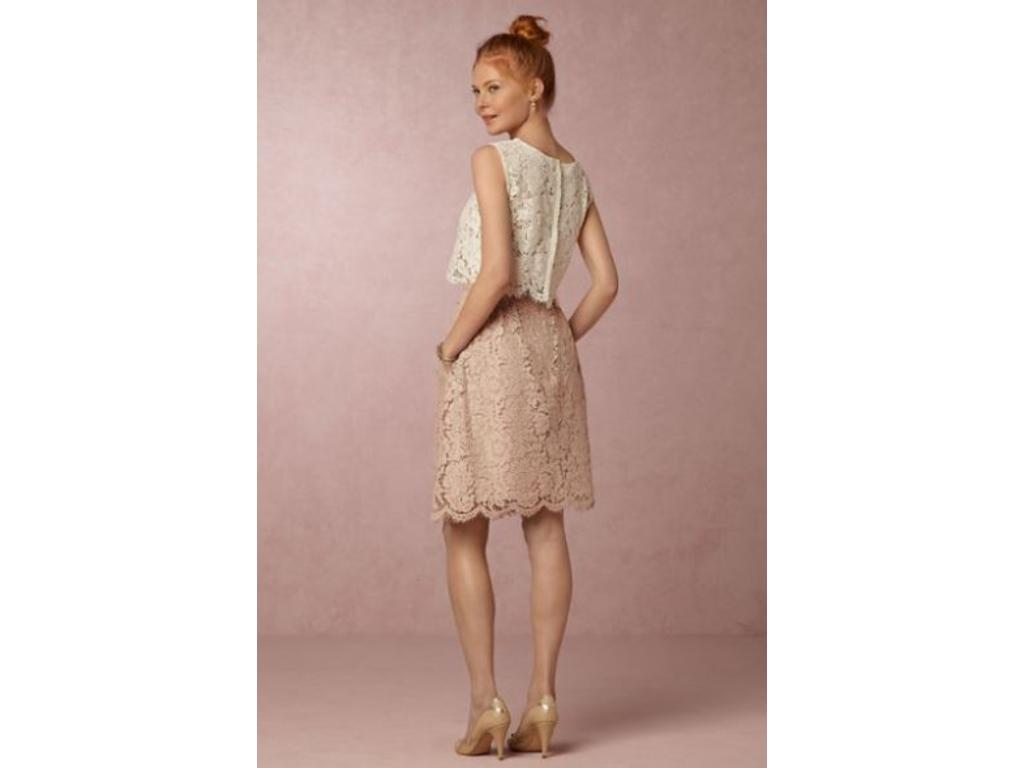 Beige Lace Bhldn Wedding Dress Or Bridesmaid Gown: BHLDN Lydia Lace Skirt , Size: 10