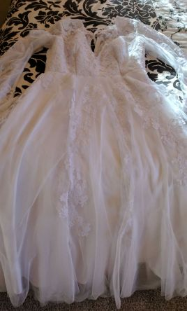 Other Handmade chiffon tulle lace wedding gown 16