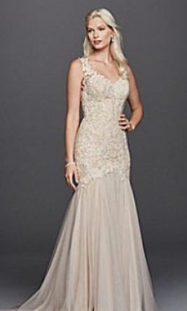 Galina Beaded lace trumpet wedding dress SWG723 00