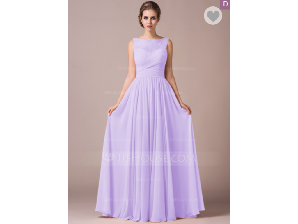 ecf38478 Other JJ's House Chiffon Lace A-Line Floor-Length, Size: 14 ...