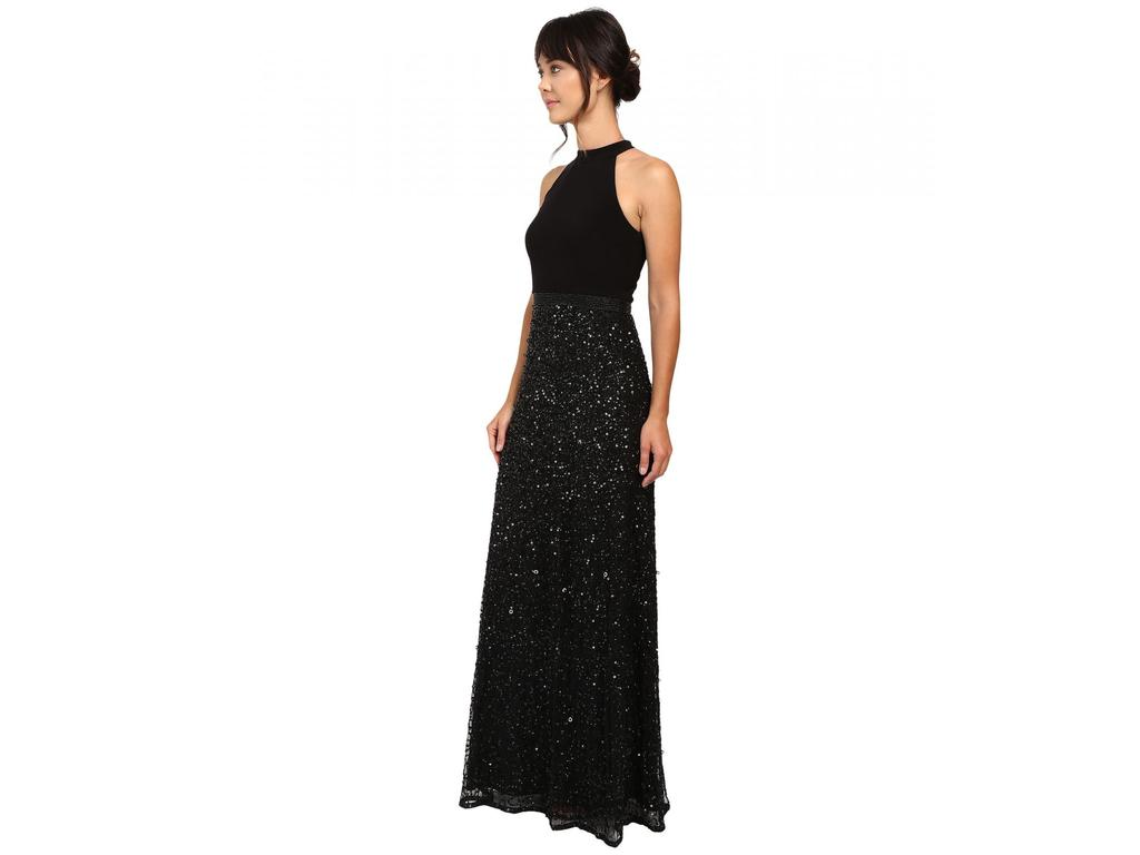 Adrianna Papell Halter Jersey and Beaded Gown, Size: 14 | Mother of ...