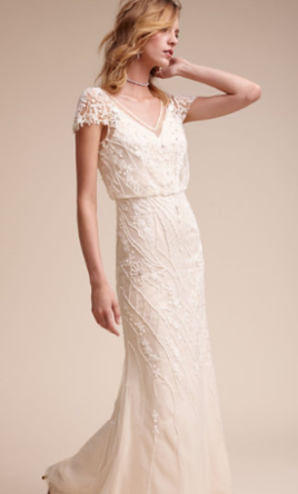 Bhldn aurora gown 550 size 6 used wedding dresses for Bhldn used wedding dresses