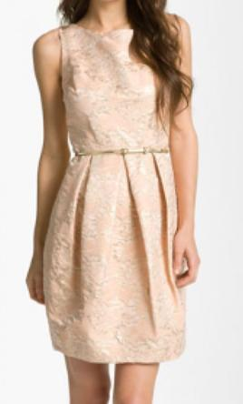 Pin It Other Eliza J Belted Cotton Jacquard Tulip Dress 10
