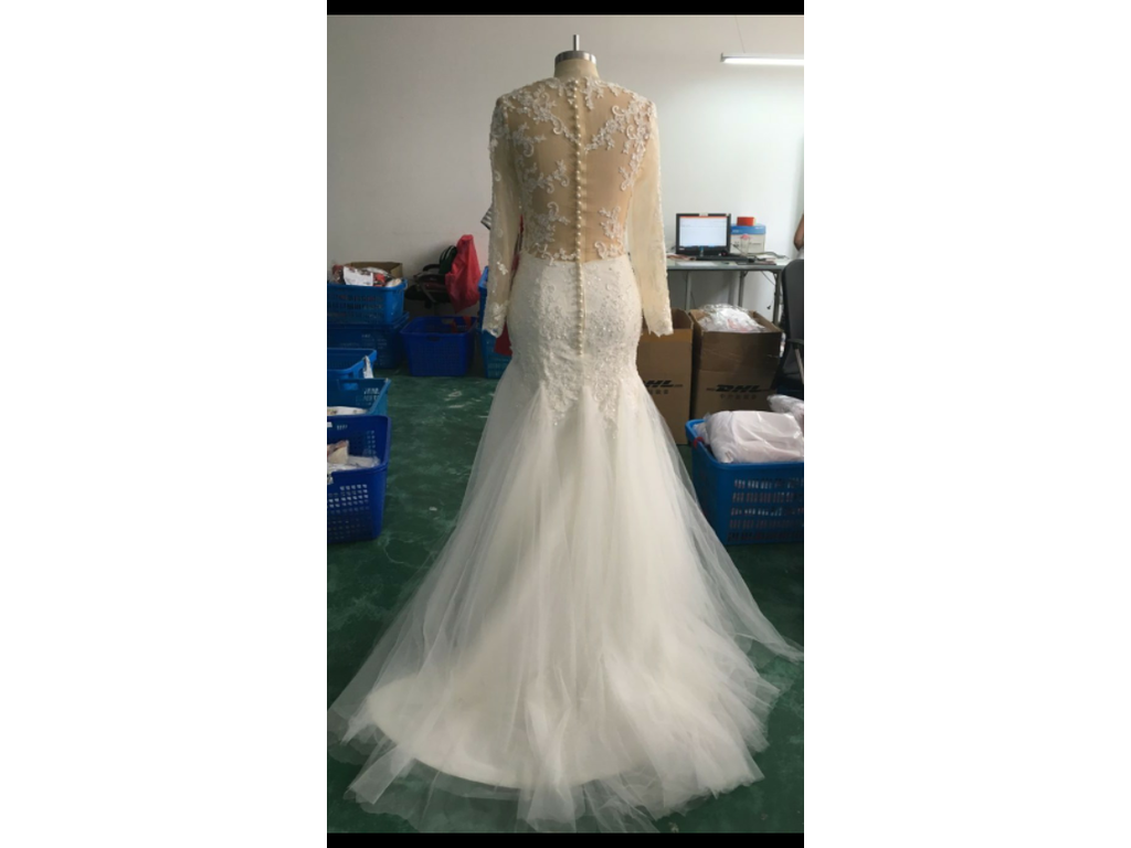 Other Mermaid Wedding Dresses Long Sleeves Lace Beaded S