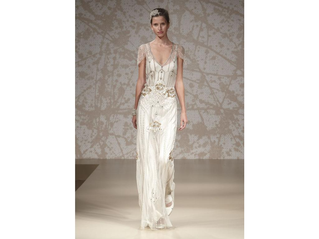Jenny Packham Eden Platinum, €2,500 Size: 10 | New (Un-Altered ...