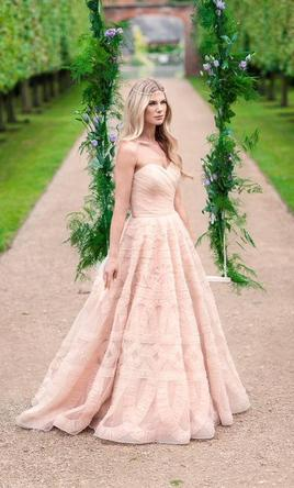 Pink wedding dresses preowned wedding dresses watters edlin 8065b 4 junglespirit Choice Image