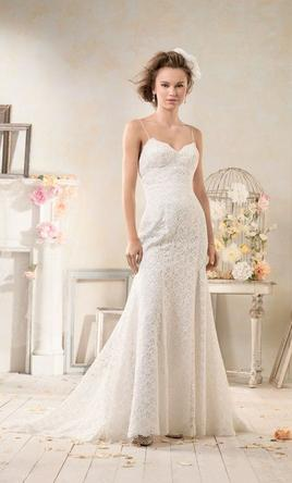 Alfred Angelo Low Back Modern Vintage Wedding Dress 8528 8