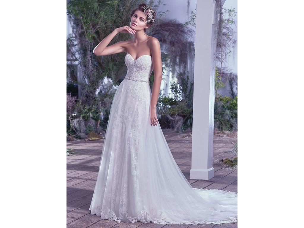 Maggie Sottero Mirelle w/ Over Skirt, $950 Size: 20 | New (Un ...