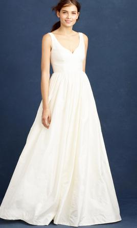 J crew karlie ball gown 550 size 14 new un altered for J crew short wedding dresses