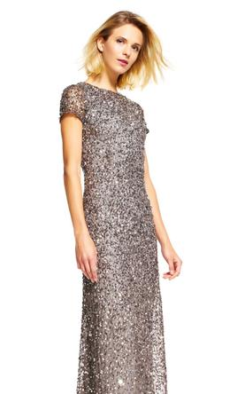 Adrianna Papell Scoop Back Sequin Gown Style# 09187460, Size: 14 ...