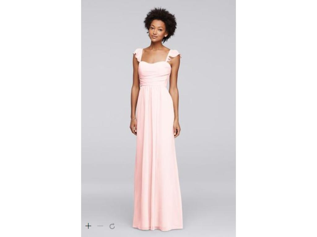 Davids bridal long bridesmaid dress with flutter sleeves f1928 davids bridal long bridesmaid dress with flutter sleeves f1928 8 pin it ombrellifo Images