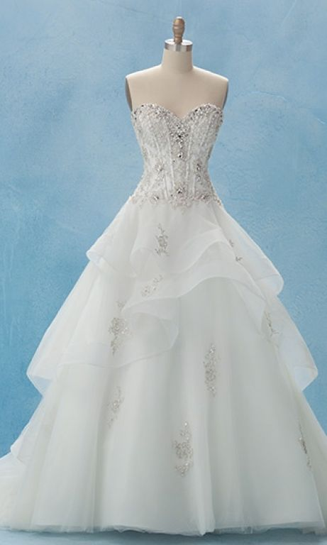Alfred angelo disney collection belle style 217 850 for Disney style wedding dresses