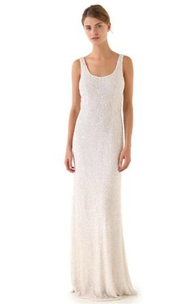 Theia Allover Beaded Gown 8