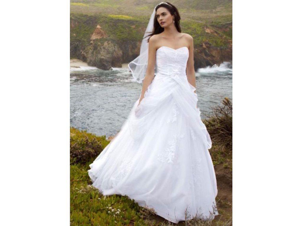 David 39 s bridal wg3403 398 size 6 used wedding dresses for Davidsbridal com wedding dresses
