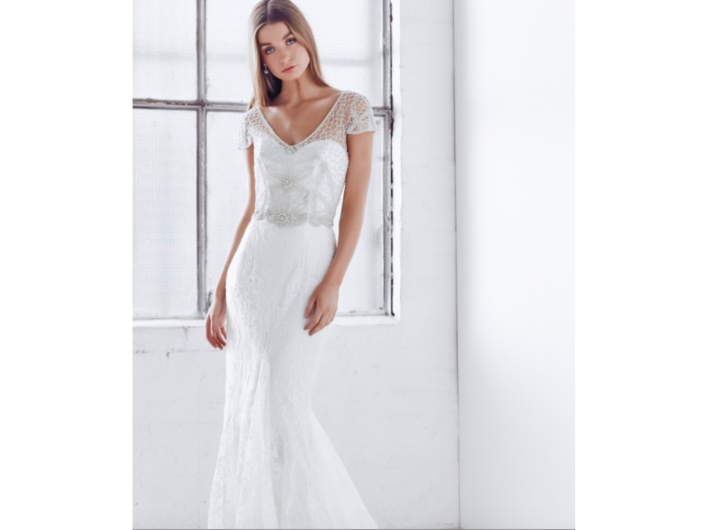 Anna campbell vienna trumpet 2 800 size 8 sample for Anna campbell wedding dress for sale
