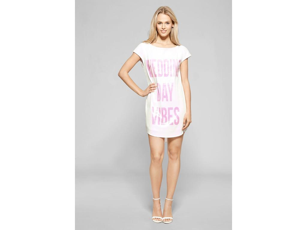 Hayley Paige Wedding Day Vibes Long Tee, Size: 10   Bridesmaid Dresses