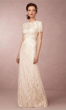 Watters BEILIN GOWN IVORY/BARE  6