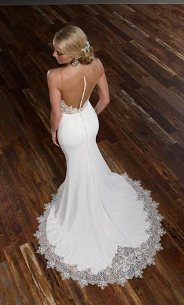 martina liana new 775 illusion back wedding dress 10