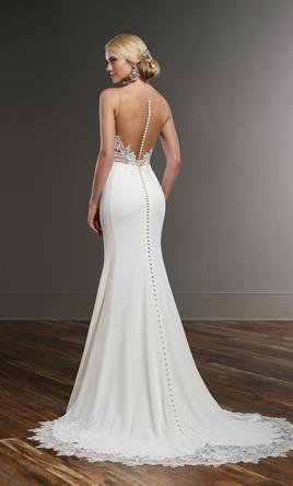 Martina Liana NEW 775 - Illusion Back Wedding Dress, $1,799 Size ...