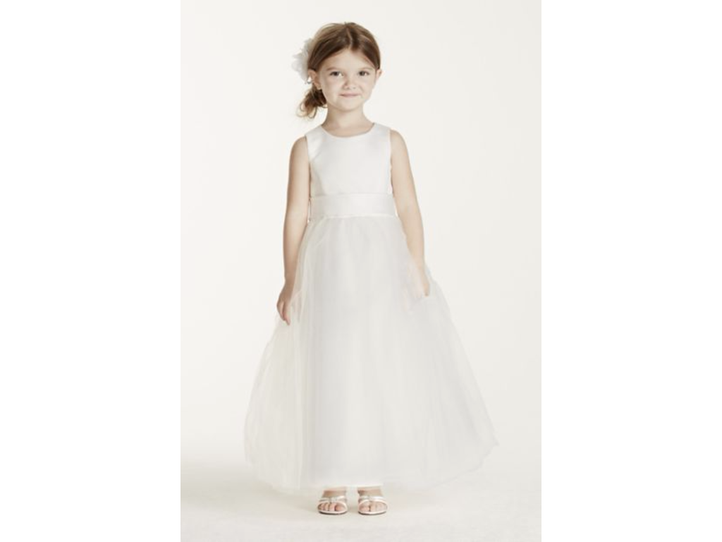David 39 s bridal style s1038 size 0 flower girl dresses for Davidsbridal com wedding dresses