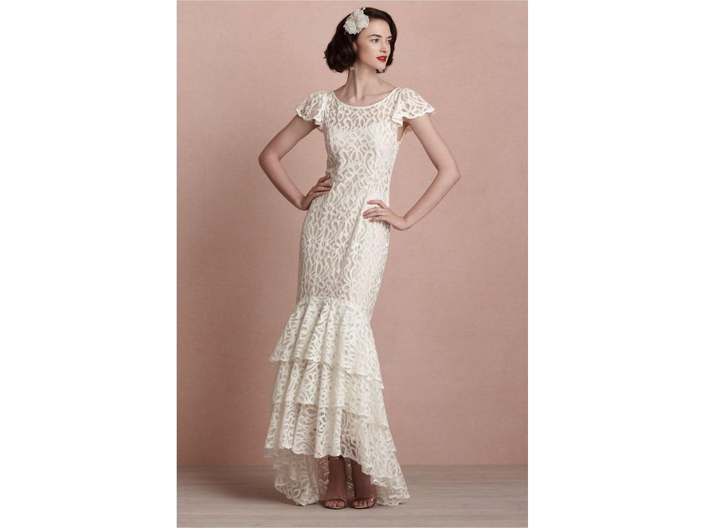 Bhldn flamenca gown 25234717 270 size 10 used for Bhldn used wedding dresses