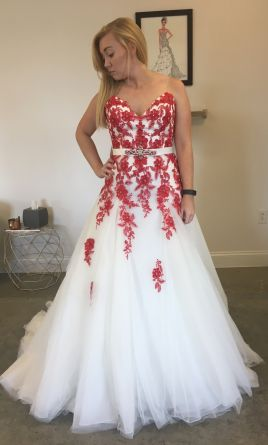 White One / W1 Yula, $210 Size: 12 | New (Un-Altered) Wedding Dresses