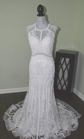 Jacquelin Exclusive 19018 Wedding Dress New Size 14 800