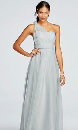 f23004ac028 Pin it Add to  · David s Bridal Long Tulle Convertible Versa 6