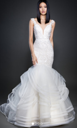 Lazaro wedding dresses for sale preowned wedding dresses for How much is a lazaro wedding dress