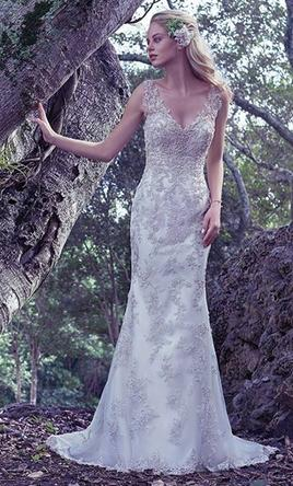 Maggie Sottero Greer Wedding Dress Used Size 12 900