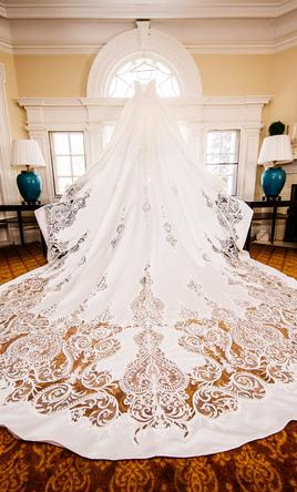 Other Knightly Royal Wedding Gown with Long Train, $2,500 Size: 4 ...