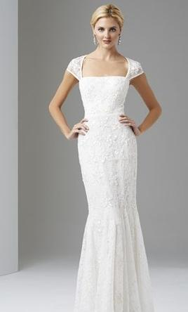 Adrianna Papell Cap Sleeve Trumpet Gown 6