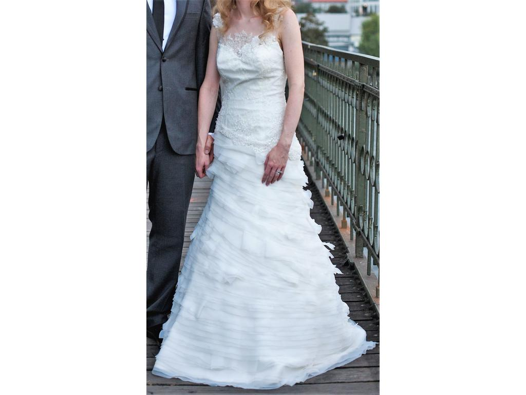 French Lace Wedding Gown: Other French Lace, Tulle And Organza Wedding Dress!, $350
