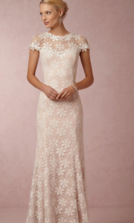 Bhldn Nova Lace Gown By Tadashi 600 Size 6 New Un Altered Wedding Dresses