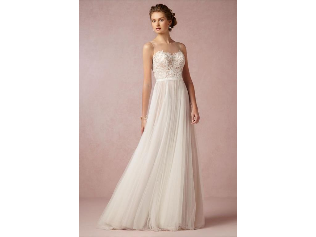 Bhldn penelope gown 700 size 0 used wedding dresses for Used wedding dress size 0