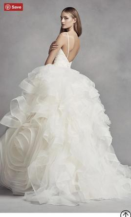 Vera Wang White Vw351371 Organza Rosette Wedding Dress 1 000 Size