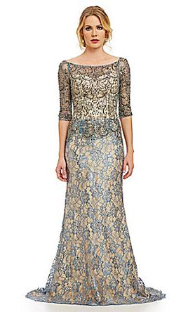 Other Mac Duggal Beaded Illusion Lace Gown 16