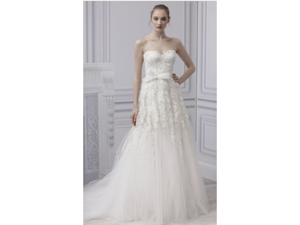 Monique lhuillier beauty 5 000 size 8 used wedding for Buy monique lhuillier wedding dress