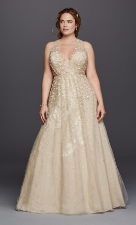 Pin it · Melissa Sweet Floral Wedding Dress with V-Neckline 8MS251151 18W c531b0597