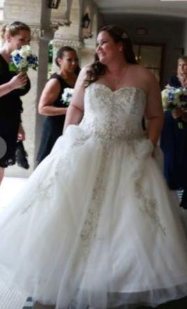 Other Strapless Sweetheart Ball Gown 450 Size 26 Used Twice Wedding Dresses