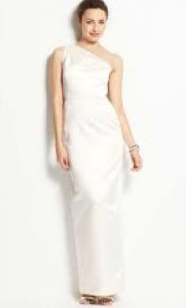 Ann taylor wedding dresses for sale preowned wedding dresses ann taylor duchess satin one shoulder wedding dress style 6 junglespirit Images