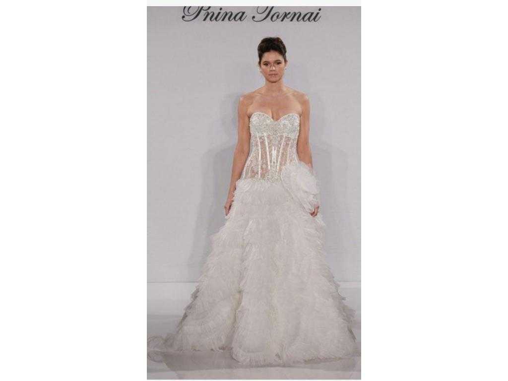 Pnina tornai 4 500 size 12 used wedding dresses for Pre owned wedding dresses