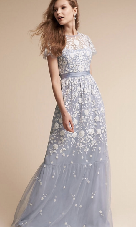 Embroidered Bridesmaid Dresses