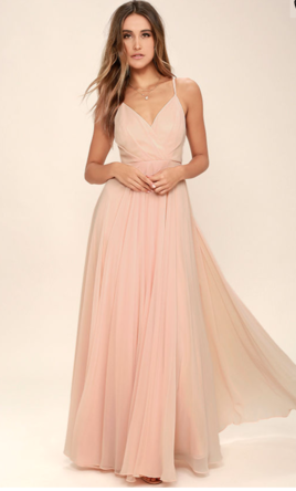 Pink Maxi Dresses for Weddings