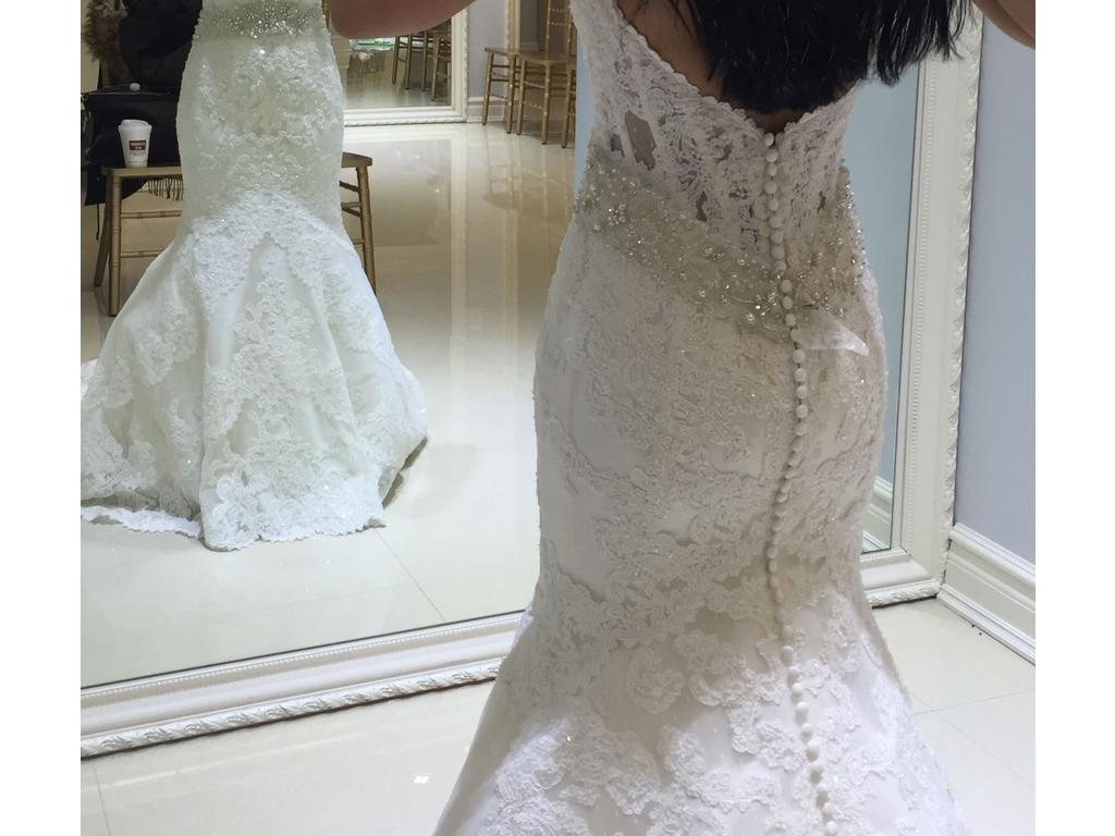 Matthew christopher emma 2 200 size 4 used wedding for Matthew christopher wedding dress prices